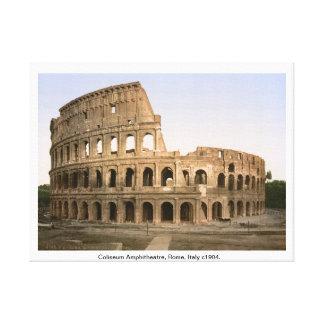 Coliseum Amphitheatre, Rome Italy, antique print Gallery Wrap Canvas