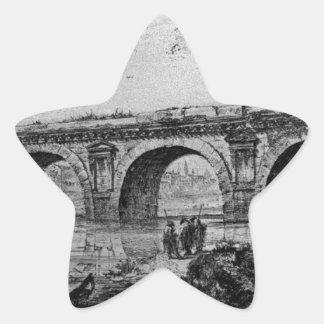 Coliseum and Flavian`s Amphitheatre in Rome Star Sticker