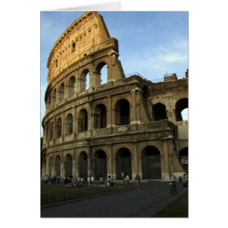 Coliseum at sunset card