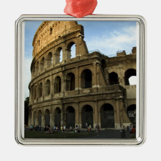 Coliseum at sunset metal ornament