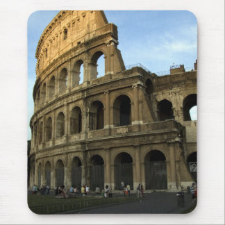 Coliseum at sunset mouse pad