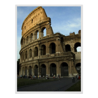 Coliseum at sunset poster