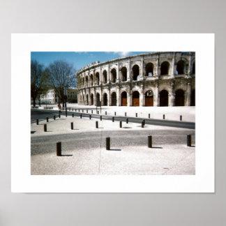 Coliseum in Nimes Fine Art Landscape Poster