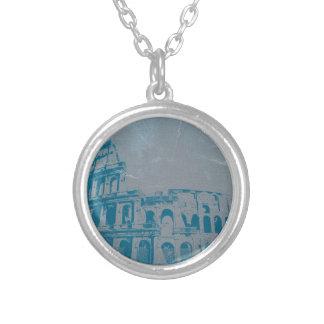 Coliseum in Rome Round Pendant Necklace