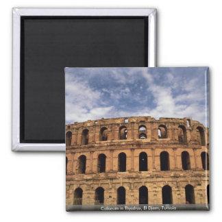 Coliseum in Thysdrus, El Djem, Tunisia 2 Inch Square Magnet