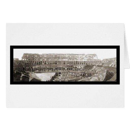 Coliseum Interior Rome Photo 1909 Greeting Card