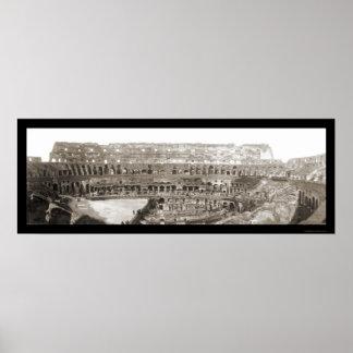 Coliseum Interior Rome Photo 1909 Print