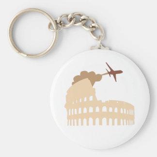 Coliseum Basic Round Button Keychain