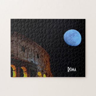 Coliseum of Rome in Moonlight Jigsaw Puzzle