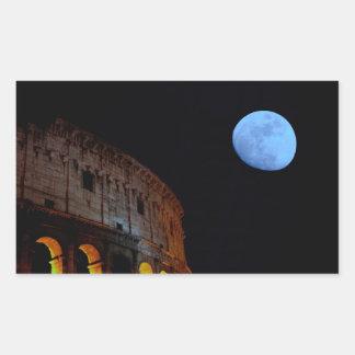 Coliseum of Rome in Moonlight Rectangular Sticker