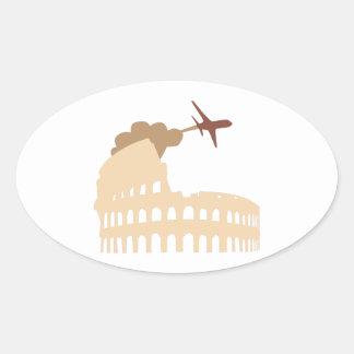 Coliseum Oval Sticker