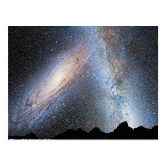 Colisión de la vía láctea y del Andromeda Postal