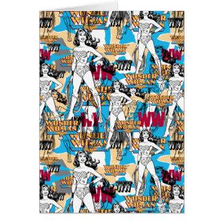 Collage 10 de la Mujer Maravilla Tarjetas