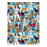 Collage 10 de la Mujer Maravilla Tarjeta Postal