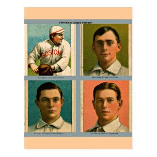 Collage 1910 de la Liga Nacional de Béisbol del vi Tarjetas Postales