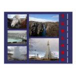 Collage 1 de Islandia Tarjeta Postal