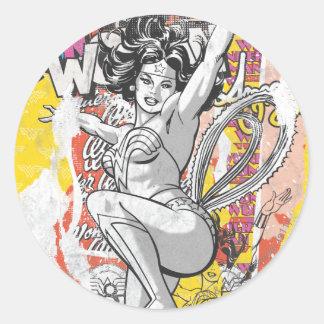 Collage 1 de la Mujer Maravilla Pegatinas