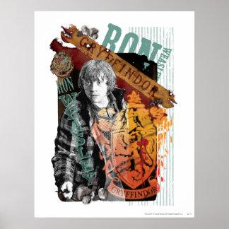 Collage 1 de Ron Weasley Póster