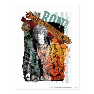 Collage 1 de Ron Weasley Postal