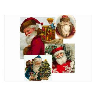 Collage 1 de Santa del vintage Postal