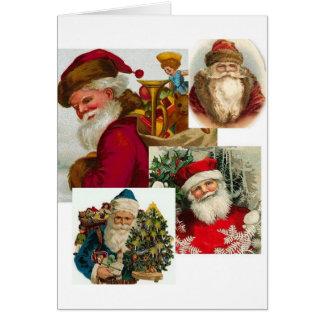 Collage 1 de Santa del vintage Tarjeta De Felicitación
