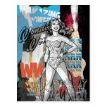 Collage 2 de la Mujer Maravilla Postal