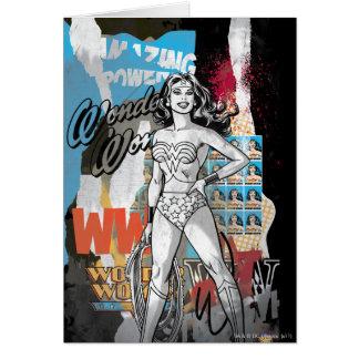 Collage 2 de la Mujer Maravilla Tarjeta De Felicitación