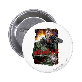 Collage 2 de Neville Longbottom Pin Redondo De 2 Pulgadas