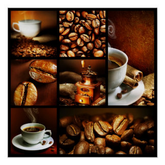 Collage 2 del café posters