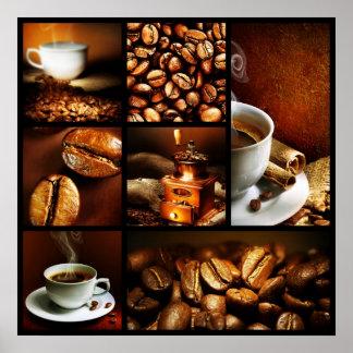 Collage 2 del café póster