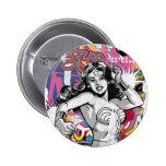 Collage 3 de la Mujer Maravilla Pin