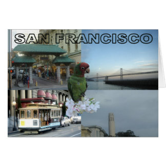 Collage 3 de San Francisco Felicitacion