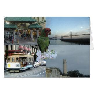Collage 3 de San Francisco Tarjeton