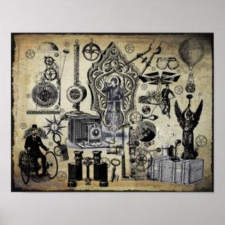Collage #3 de Steampunk Póster