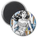 Collage 4 de la Mujer Maravilla Imán De Frigorifico