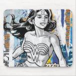 Collage 4 de la Mujer Maravilla Alfombrillas De Raton