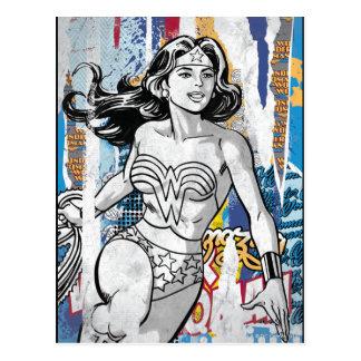 Collage 4 de la Mujer Maravilla Tarjetas Postales