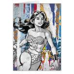 Collage 4 de la Mujer Maravilla Tarjetas
