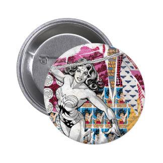Collage 5 de la Mujer Maravilla Pin Redondo De 2 Pulgadas