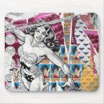 Collage 5 de la Mujer Maravilla Alfombrillas De Raton