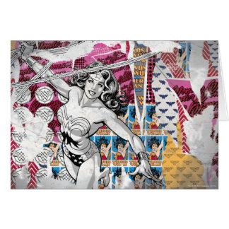 Collage 5 de la Mujer Maravilla Tarjeta De Felicitación