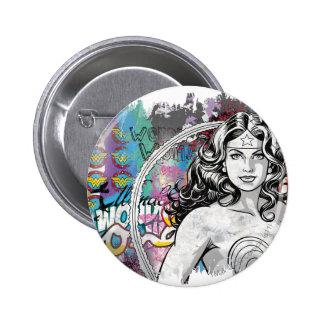 Collage 6 de la Mujer Maravilla Pin Redondo De 2 Pulgadas