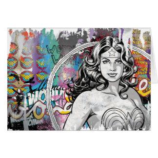 Collage 6 de la Mujer Maravilla Tarjeta De Felicitación