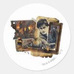 Collage 7 de Harry Potter Pegatina Redonda