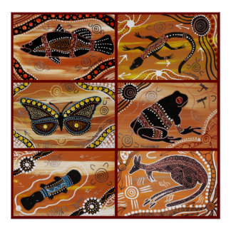 Collage aborigen del arte
