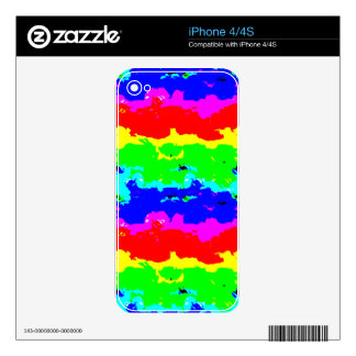 Collage abstracto colorido de Digitaces Calcomanía Para iPhone 4
