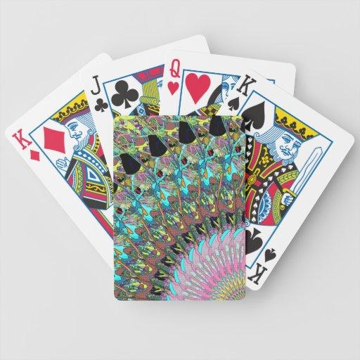 Collage abstracto de colores baraja de cartas