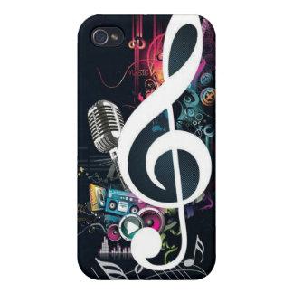Collage abstracto de la música iPhone 4/4S funda