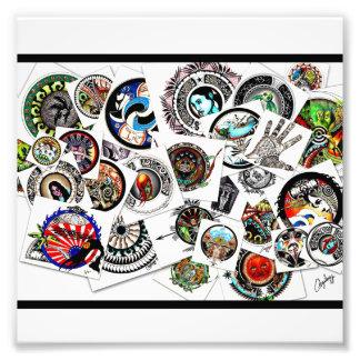 Collage abstracto ecléctico del dibujo fotografías