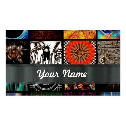 Collage abstracto plantilla de tarjeta personal